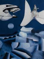 Collages de Christophe Vilar, artiste peintre, Sète