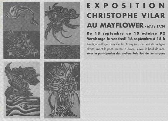exposition de l'artiste peintre Christophe Vilar, au MayFlower