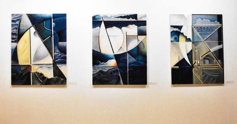 exposition chappelle du quartier haut de l'artiste peintre Christophe Vilar,